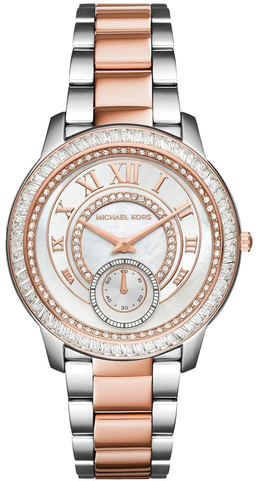 afd0dabce1d1f Michael Kors Michael Kors Women s Silver Madelyn Rose Gold Two-Tone Watch  MK6288 Image 0 ...