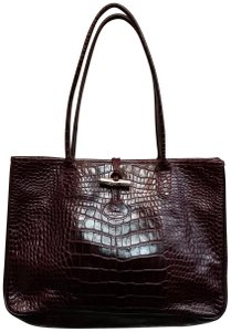 Added to Shopping Bag. Longchamp Croc Aubergine Purple Cranberry Tote ... 29ed46ee81929