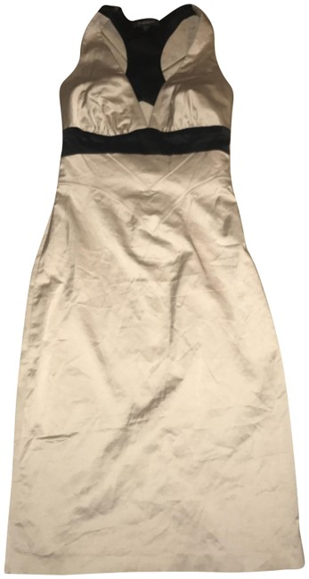 Item - Black/Beige Mid-length Night Out Dress Size 0 (XS)