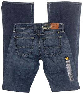 Lucky Brand X-long 00 Low Relaxed Flare Leg Jeans-Medium Wash