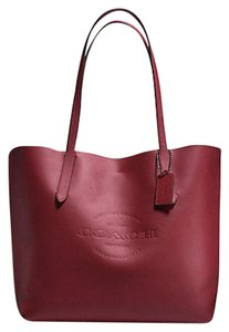 Coach Carry All 59403 Black Tote in Red
