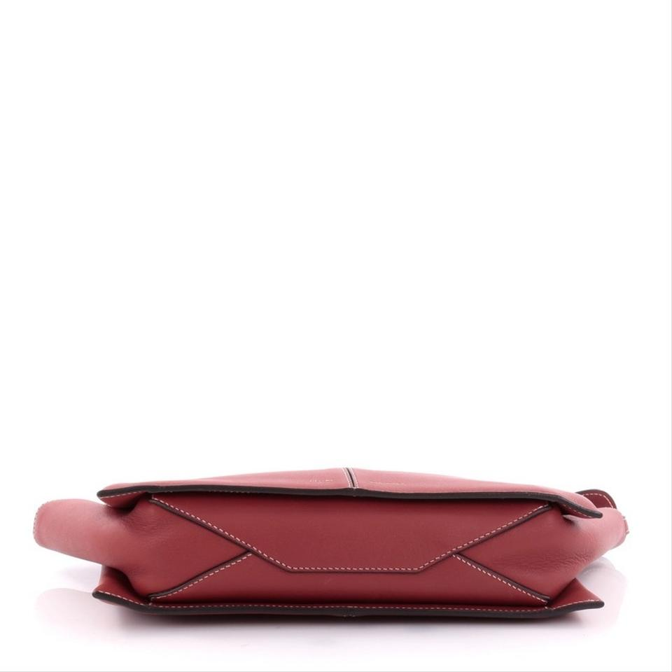 1c8055719 Céline Tri-Fold Clutch on Chain Tri-Fold Smooth Red Leather Clutch ...