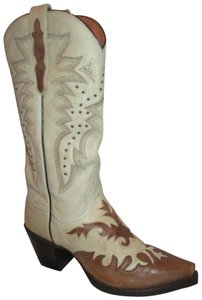 Dan Post Boots Leather Western Wynona brown & beige Boots