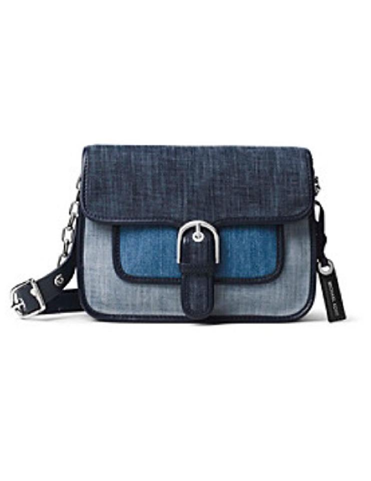 981d4dcb01b6 Michael Kors Denim Cooper Blue Messenger Bag Image 0 ...