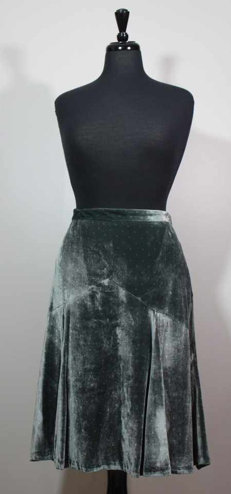 incredible prices large discount online store Marc Jacobs Mint Green Velvet Look & Feel - Skirt Size 10 (M, 31 ...