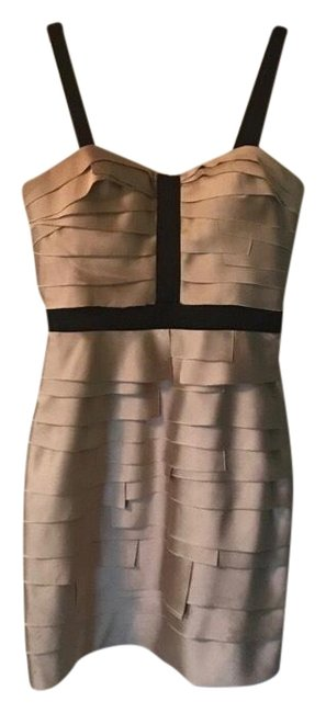 Item - Black and Gold Cocktail Short Night Out Dress Size 2 (XS)