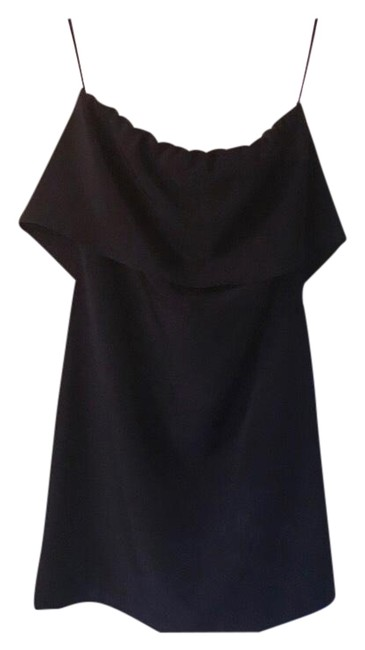 Zara Black Strapless Cocktail Mid-length Night Out Dress Size 4 (S) Zara Black Strapless Cocktail Mid-length Night Out Dress Size 4 (S) Image 1