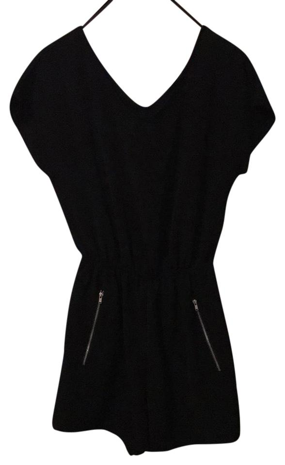 9a7034a1e33 One Clothing Black Zip-pocket Romper Jumpsuit - Tradesy