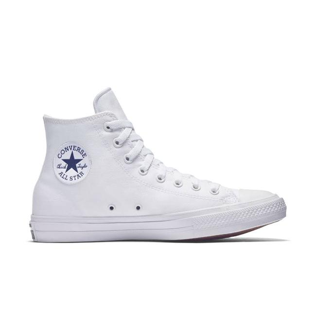 White W Chuck Taylor All Star High Tops Optical W/ Nike Lunar Insoles  Sneakers
