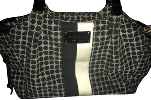 Kate Spade Quilted Stevie Satchel Black and Cream Diaper Bag