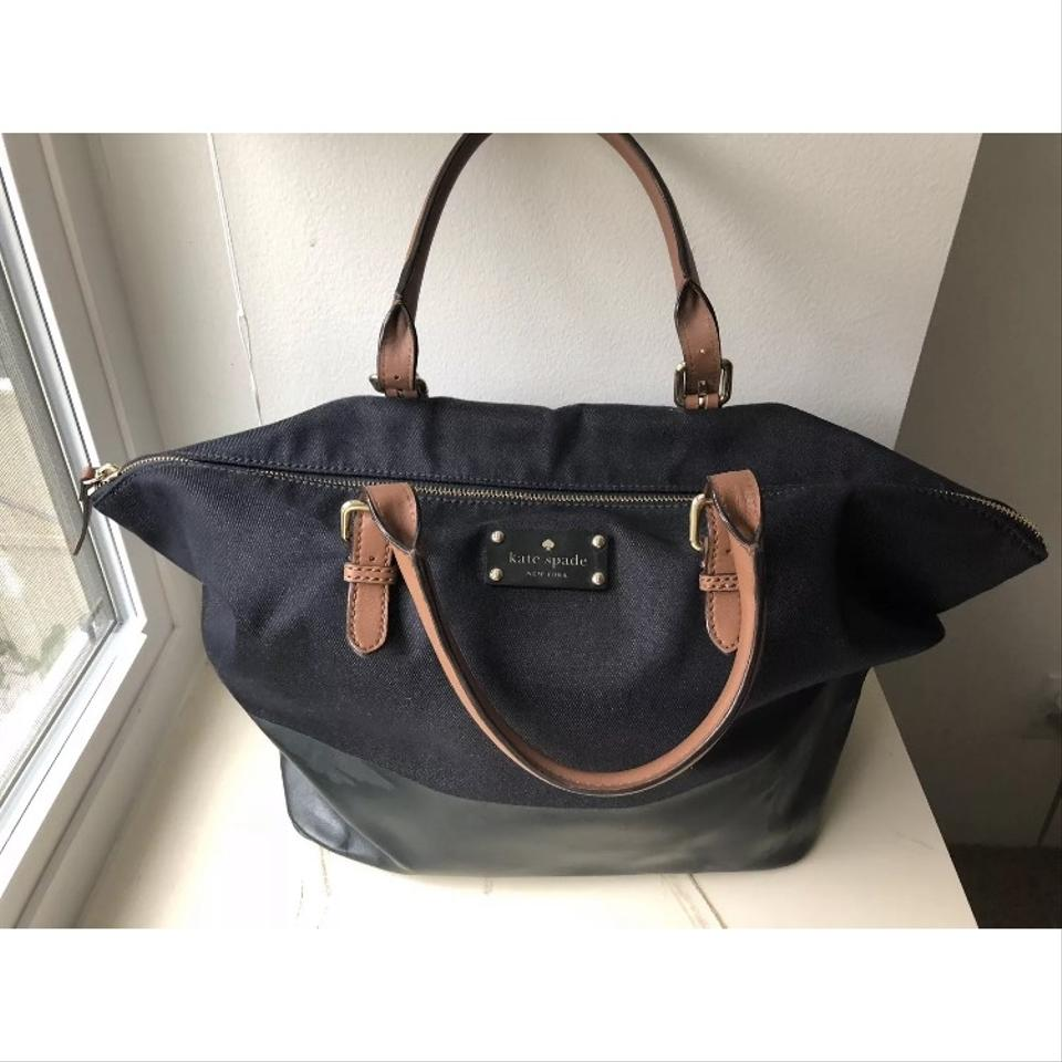 f06e49b5d4d6 Kate Spade Dixon Pl Blaine Purse Tote Blue Leather Denim Shoulder ...