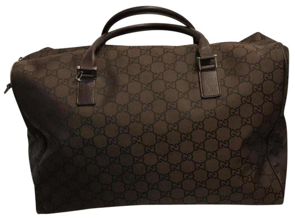3341fc298 Gucci Duffle Gg Brown Canvas Weekend/Travel Bag - Tradesy