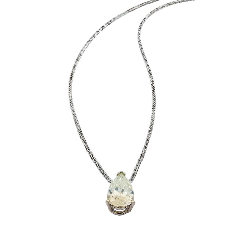 pendant solitaire diamond round en blue necklace solitare birks