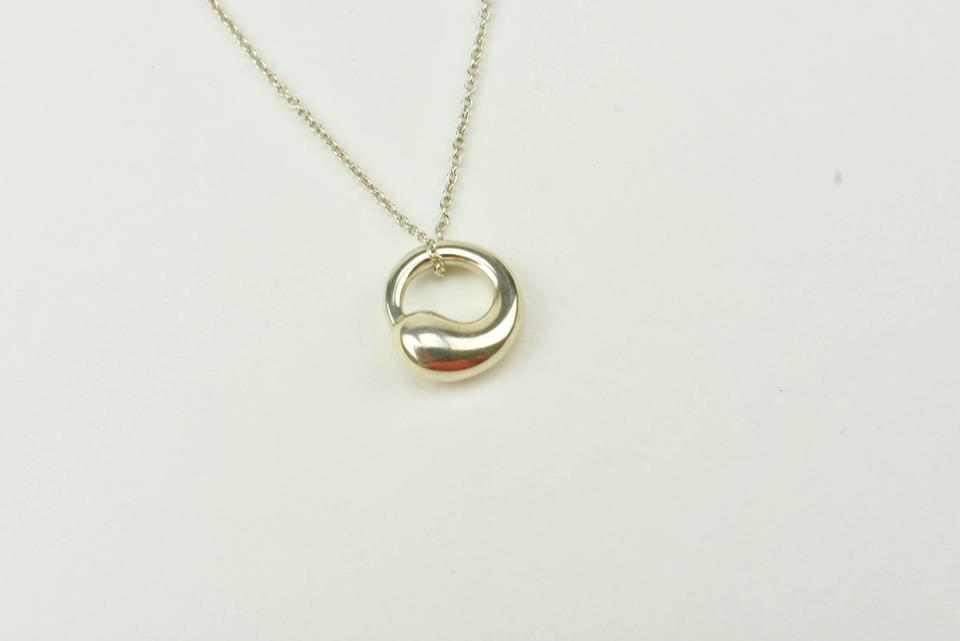 Tiffany co silver sterling elsa peretti eternal circle necklace 12345 aloadofball Images