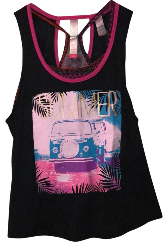 7827a5a3010 No Boundaries Black Summer with Matching Bralette Tank Top Cami Size ...