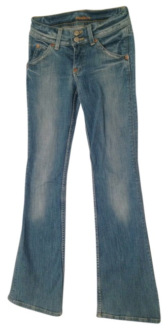 Preload https://img-static.tradesy.com/item/2244995/hudson-medium-bluedistressed-flare-leg-jeans-size-24-0-xs-0-0-650-650.jpg