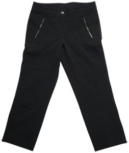LUISA CERANO Zipped Crop Pants Capris Black