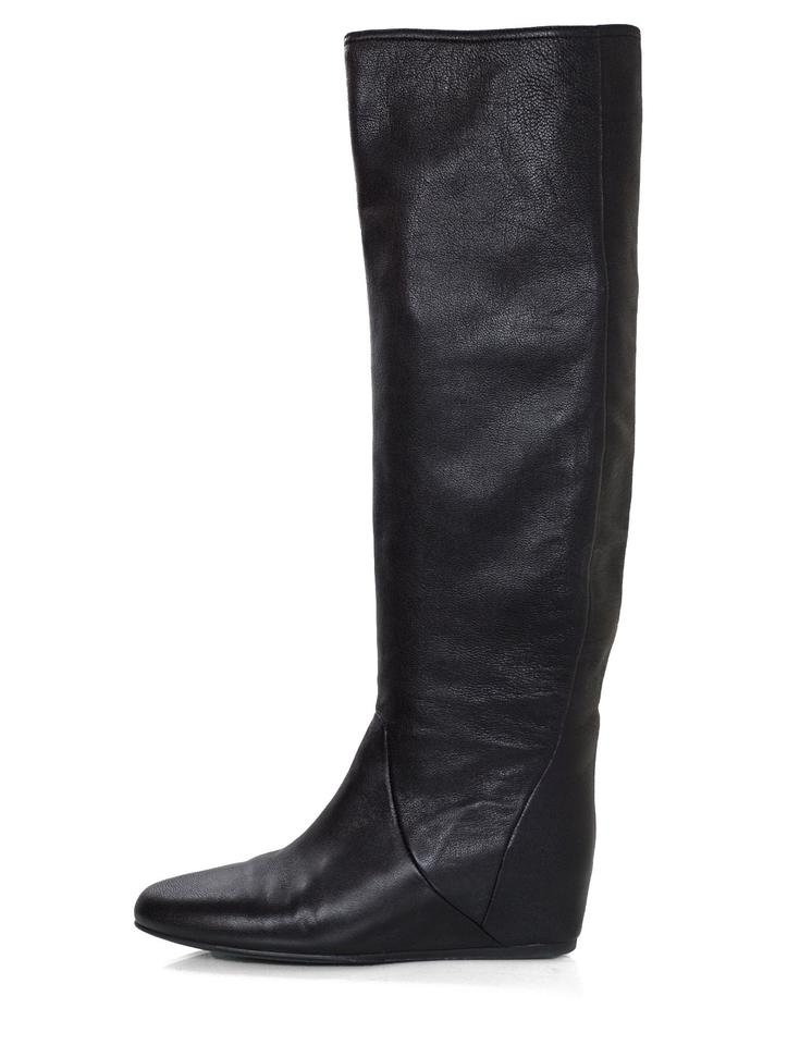 women Black Lanvin Black women Leather Boots/Booties Year-end sales 662bed