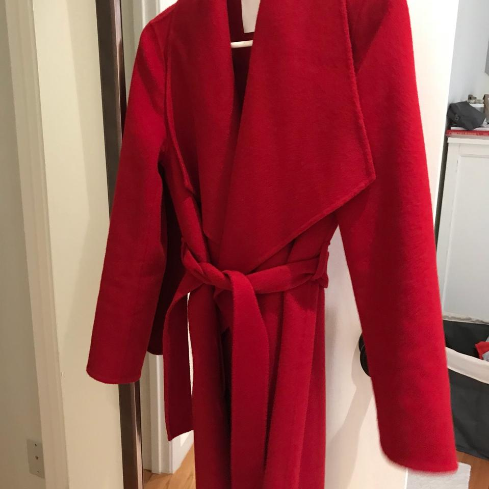 c98863f90bb Boss by Hugo Boss Red Califa Double Face Wool/Cashmere Coat Size 4 ...