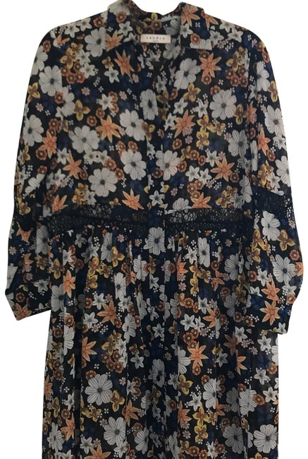 Item - Floral Multi Color Reyes Mid-length Short Casual Dress Size 2 (XS)