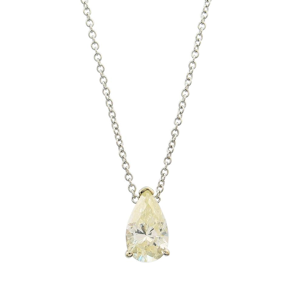 diamond on winston chain a shaped rondelle en trans pear pendant harry necklace