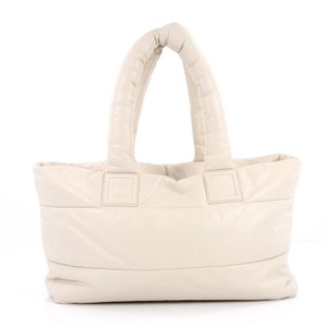 Chanel Leather Tote in off-white