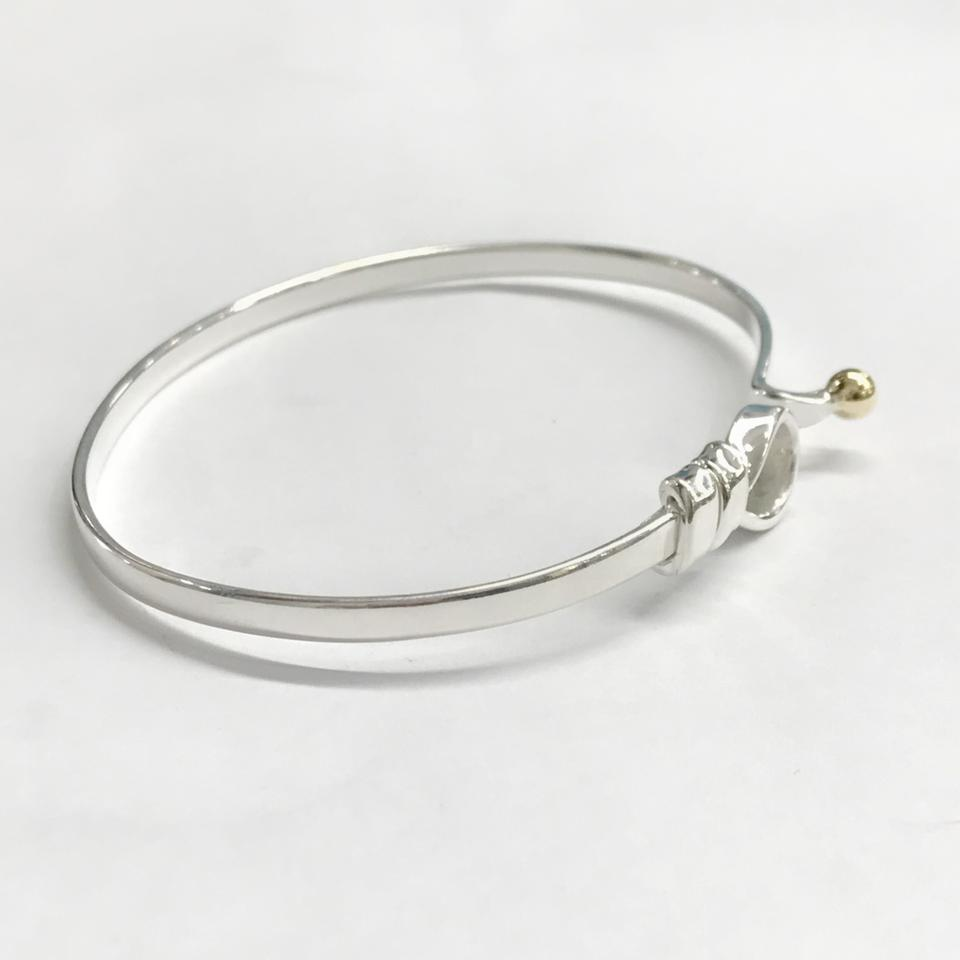 metallic silver knot s products bangle bangles thepeachbox