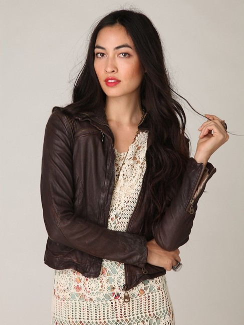 DOMA Brown Leather Jacket