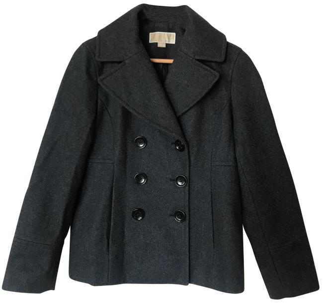 Item - Charcoal Grey Double Breasted Coat Size 6 (S)