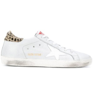 Golden Goose Deluxe Brand Distressed Ggdb Leopard Star White Athletic