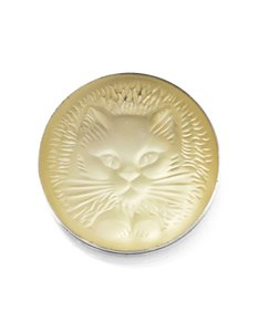 Lalique Lalique Cat Brooch with Box