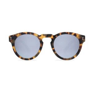 Illesteva Leonard Sunglasses Tortoise With Silver Mirrored Lenses