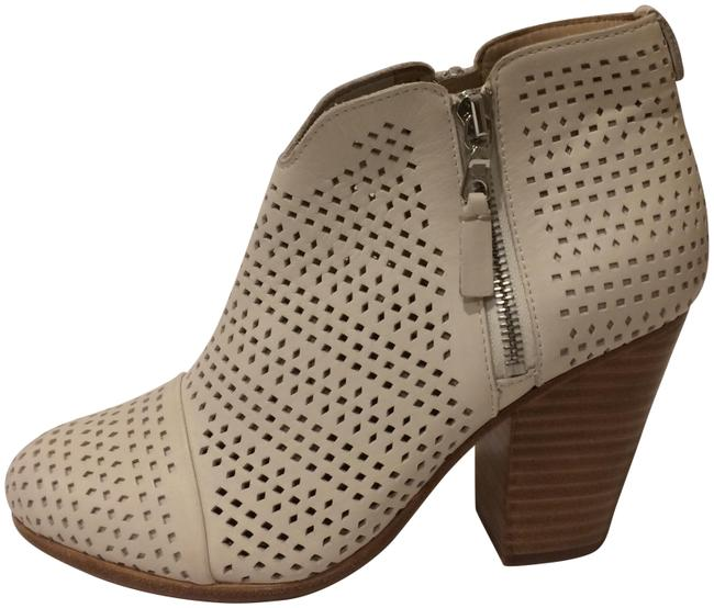 Item - White New Margot Perforated Leather Ankle Boots/Booties Size EU 37 (Approx. US 7) Regular (M, B)