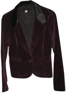 Lux Velvet Smart Formal Casual Maroon/Grape Vine Blazer