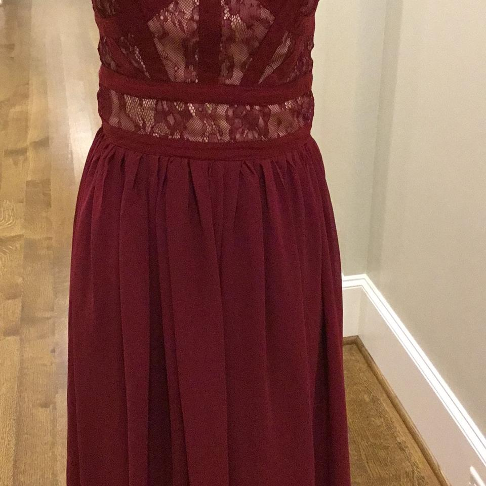 Taylor Swift Deep Red Gown Long Formal Dress Size 0 (XS) - Tradesy
