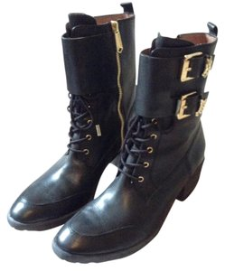 Donald J. Pliner Leather J. Black Boots