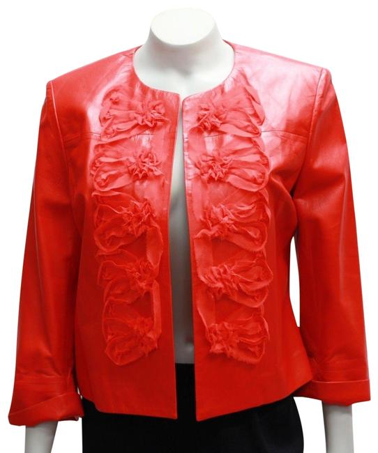 Item - Coral Red New Soca Small 6 Lamb Frayed Jacket Size 4 (S)