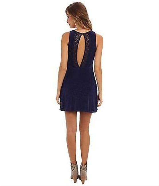 Free People short dress Lady Jane Fit & Flare 10 M In Navy on Tradesy
