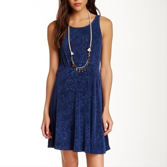 Free People short dress Lady Jane Fit & Flare Sz 10 M In Navy on Tradesy
