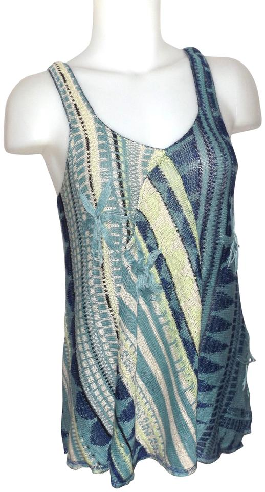 Top Blue Nail Art Designs To Suit Your Blue Costumes: Free People Blue Tank Top/Cami Size 6 (S)