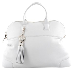 Versace Leather Satchel in White