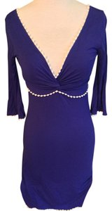 short dress Royal blue Skater Lace Trim on Tradesy