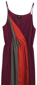 Mossimo Supply Co. short dress plum, coral and grey on Tradesy