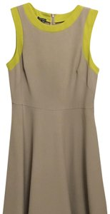 Muse short dress grey and yellow on Tradesy