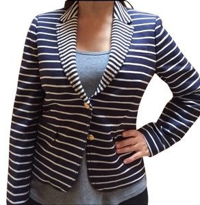 Banana Republic Navy and White Blazer