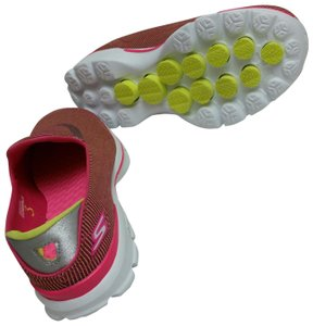 6f9325266e87 Skechers Hot Pink   Green Athletic. Skechers Hot Pink   Green Performance Women s  Go Walk 3 Fitknit Extreme Slip ...