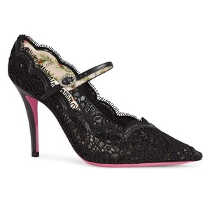 Gucci Virginia Mary Jane Black Pumps