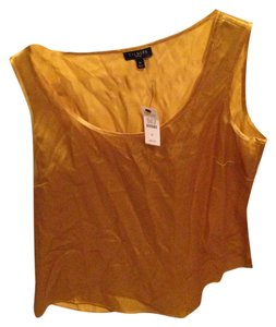 Talbots Silk Top Gold