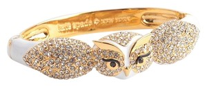 Kate Spade KATE SPADE 12K Gold Plated Star Bright Owl Hinge Bangle Bracelet