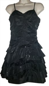 Ya Sequin Tiered Ruffle Spaghetti Strap Dress